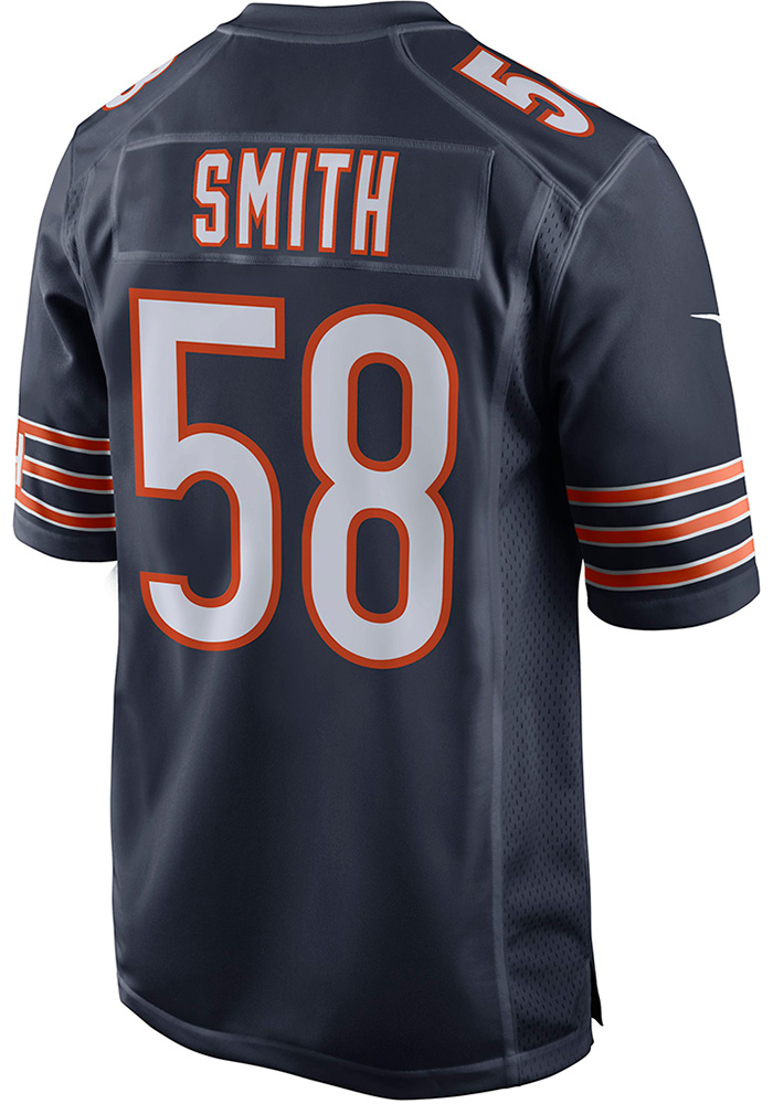 Roquan Smith Nike Chicago Bears Navy Blue Home Game Football Jersey - Image 1