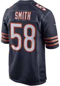 Roquan Smith Chicago Bears Nike Home Game Football Jersey - Navy Blue