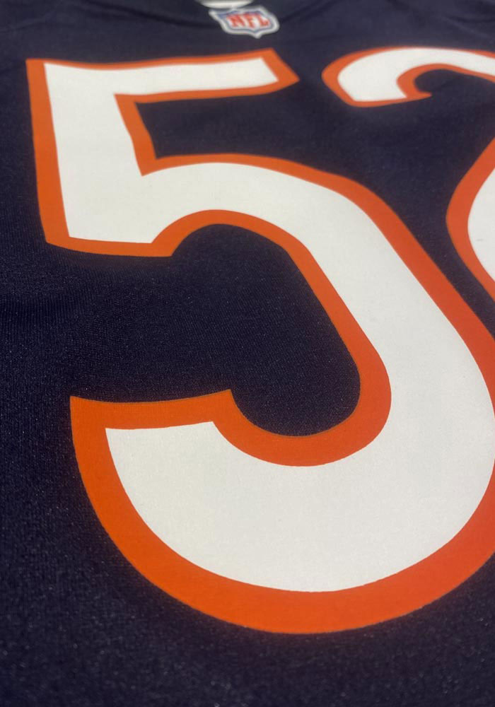 Roquan Smith Nike Chicago Bears Navy Blue Home Game Football Jersey - Image 5