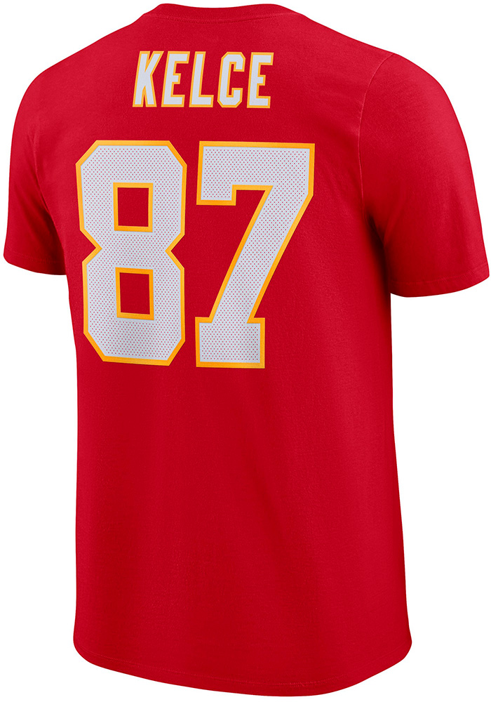 Travis Kelce Kansas City Chiefs Red Player Pride 3.0 Player Tee
