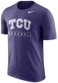 TCU Horned Frogs Nike Team Issue Performance T Shirt - Purple