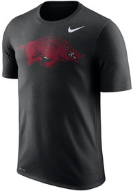 Arkansas Razorbacks Nike Fade Performance T Shirt - Black