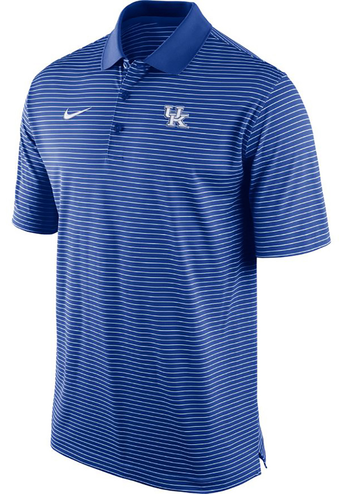 Nike Kentucky Wildcats Mens Blue Stadium Performance Short Sleeve Polo - Image 1