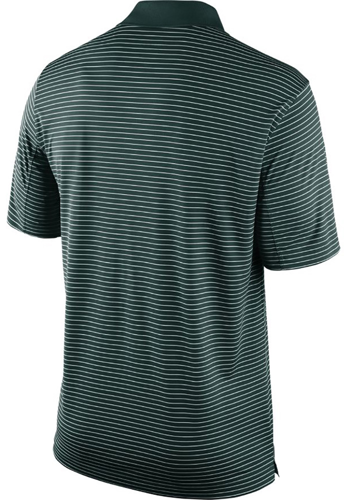Nike Michigan State Spartans Mens Green Stadium Performance Short Sleeve Polo - Image 2