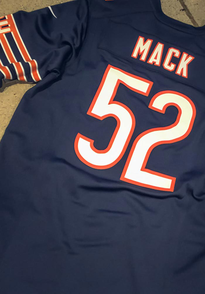 buy popular 558be bb0d5 Khalil Mack Nike Chicago Bears Mens Navy Blue 2018 Home Football Jersey