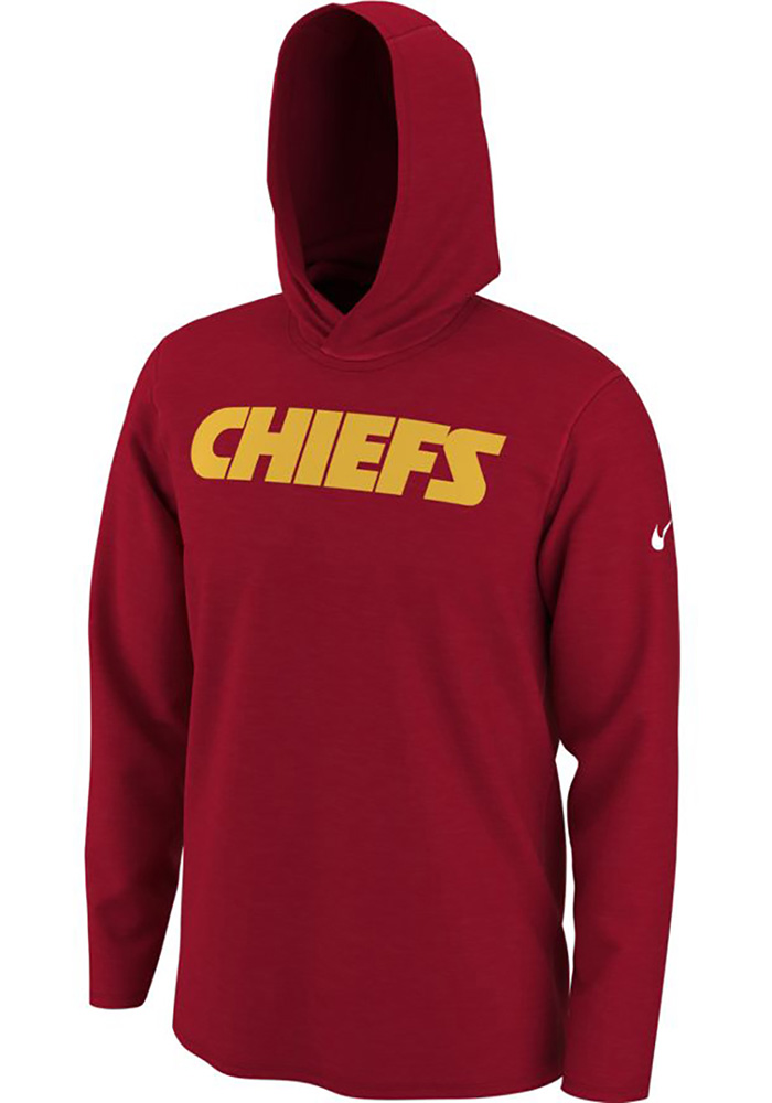 bde67147 Nike Kansas City Chiefs Mens Red Helmet Long Sleeve Hoodie - 12552418