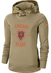Chicago Bears Womens Nike Salute to Service Therma Hooded Sweatshirt - White