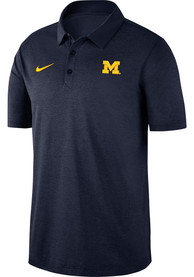 Michigan Wolverines Nike Breathe Polo Shirt - Navy Blue