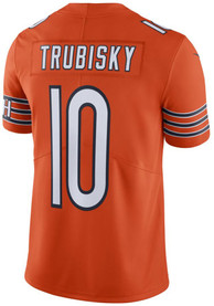 Mitch Trubisky Chicago Bears Nike Alternate Limited Football Jersey - Orange