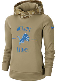 Detroit Lions Womens Nike Salute to Service Therma Hooded Sweatshirt - White