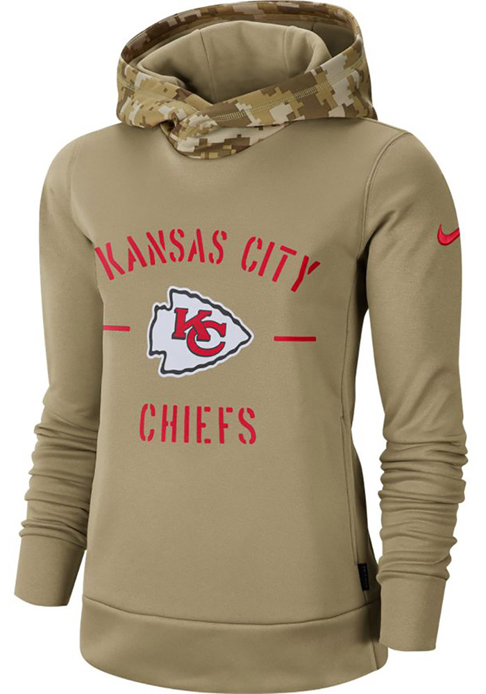 Nike Kansas City Chiefs Womens White Salute to Service Therma Hoodie