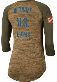 Detroit Lions Womens Nike Salute to Service Legend T-Shirt - White