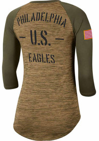 Philadelphia Eagles Womens Nike Salute to Service Legend T-Shirt - White