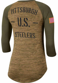 Pittsburgh Steelers Womens Nike Salute to Service Legend T-Shirt - White