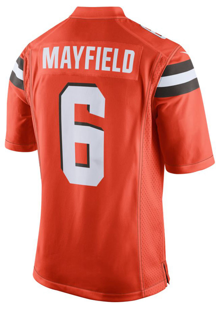competitive price 9f0a8 d6a02 Baker Mayfield Nike Cleveland Browns Mens Orange 2019 Alternate Football  Jersey