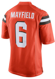 newest collection 82756 cd5a6 Baker Mayfield Nike Cleveland Browns Orange 2019 Alternate Jersey