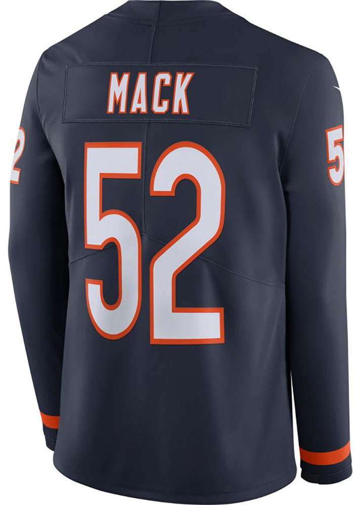 Khalil Mack Chicago Bears Nike Therma LS Limited Football Jersey - Navy Blue