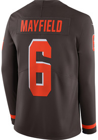 Baker Mayfield Cleveland Browns Nike Therma LS Limited Football Jersey - Brown
