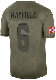Baker Mayfield Cleveland Browns Nike Salute to Service Limited Football Jersey - Olive
