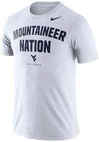 West Virginia Mountaineers Nike Phrase T Shirt - White