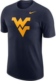 West Virginia Mountaineers Nike Logo T Shirt - Navy Blue