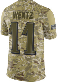 Carson Wentz Philadelphia Eagles Nike Salute To Service Limited Football Jersey - Olive