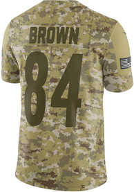 competitive price 42a2e 22d7e Antonio Brown Nike Pittsburgh Steelers Green STS Jersey