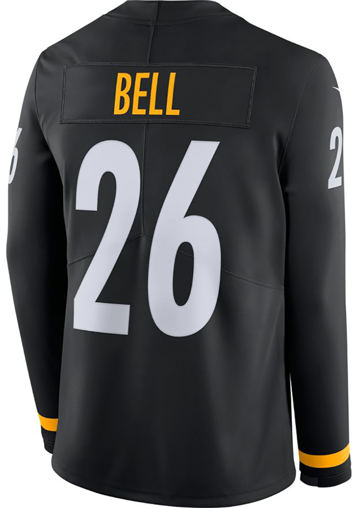 ca81c652e Le Veon Bell Nike Pittsburgh Steelers Mens Black Therma Limited Football  Jersey - Image 1