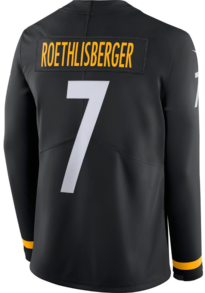 Ben Roethlisberger Nike Pittsburgh Steelers Black Therma Jersey a7fbd969b