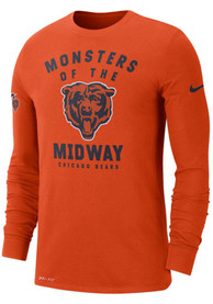 Chicago Bears Nike Local Sideline T-Shirt - Orange