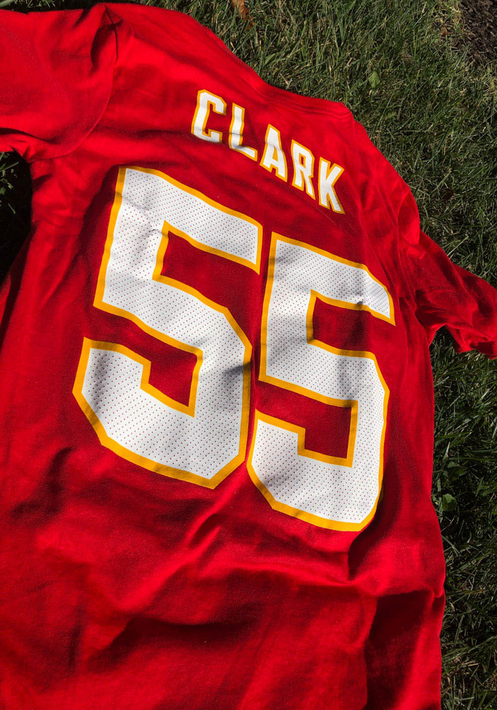 Frank Clark Kansas City Chiefs Red Player Pride Short Sleeve Player T Shirt - Image 3