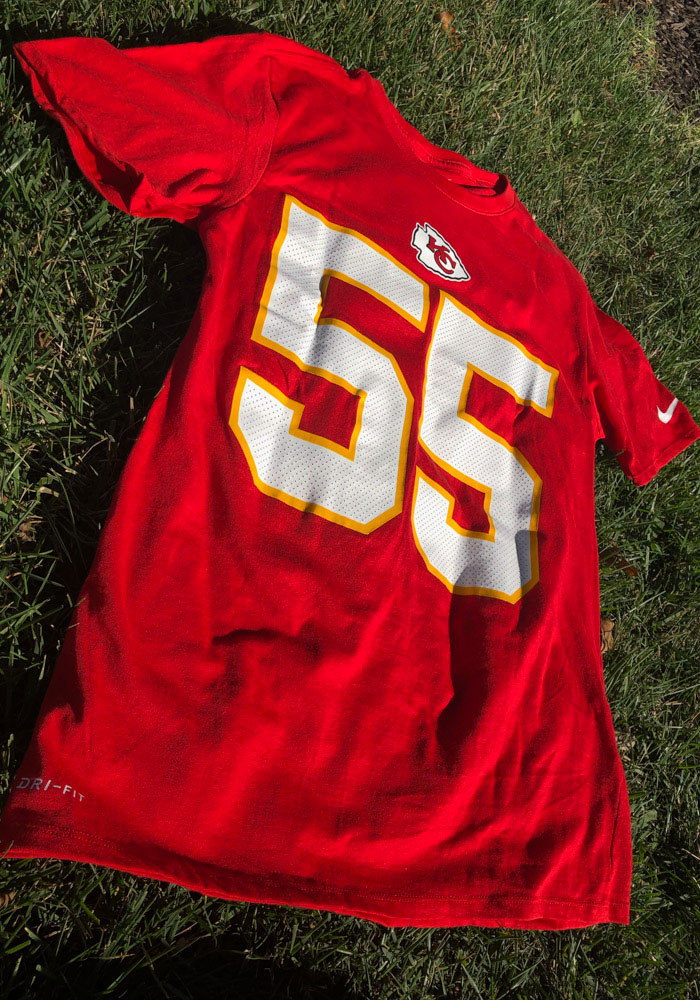 Frank Clark Kansas City Chiefs Red Player Pride Short Sleeve Player T Shirt - Image 4