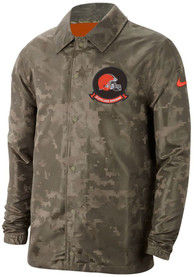 Cleveland Browns Nike Salute To Service Lightweight Light Weight Jacket - Olive