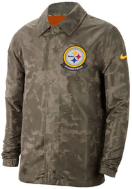 Pittsburgh Steelers Nike Salute To Service Lightweight Light Weight Jacket - Olive
