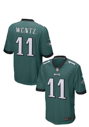 Carson Wentz Nike Philadelphia Eagles Mens Midnight Green 2017 Home Jersey