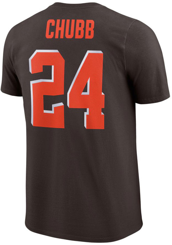 Nick Chubb Cleveland Browns Brown Player Pride 3.0 Short Sleeve Player T Shirt - 12553155
