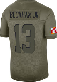 Odell Beckham Jr Cleveland Browns Nike Salute to Service Limited Football Jersey - Olive