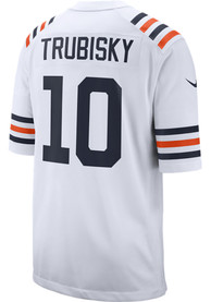 Mitch Trubisky Chicago Bears Nike Throwback Game Football Jersey - White