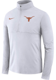 Texas Longhorns Nike Core Performance 1/4 Zip Pullover - White