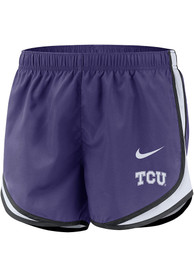 TCU Horned Frogs Womens Nike Dri-FIT Tempo Shorts - Purple