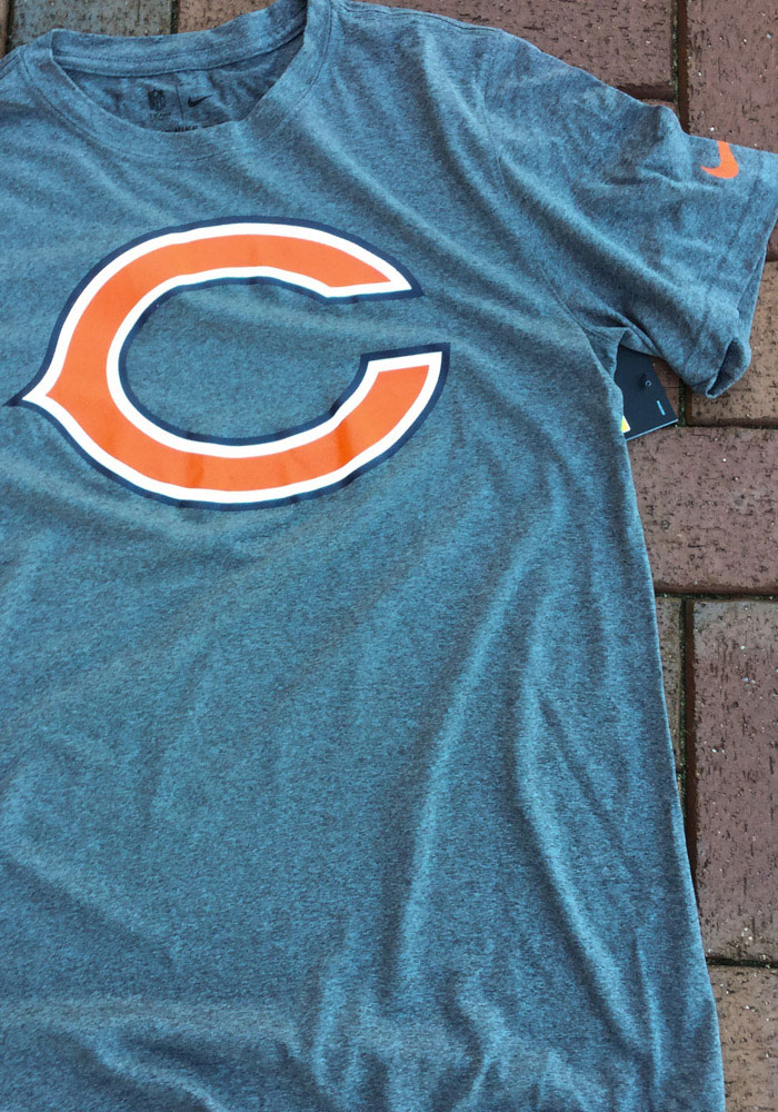 Nike Chicago Bears Charcoal Logo Essential 3 Short Sleeve T Shirt - Image 3