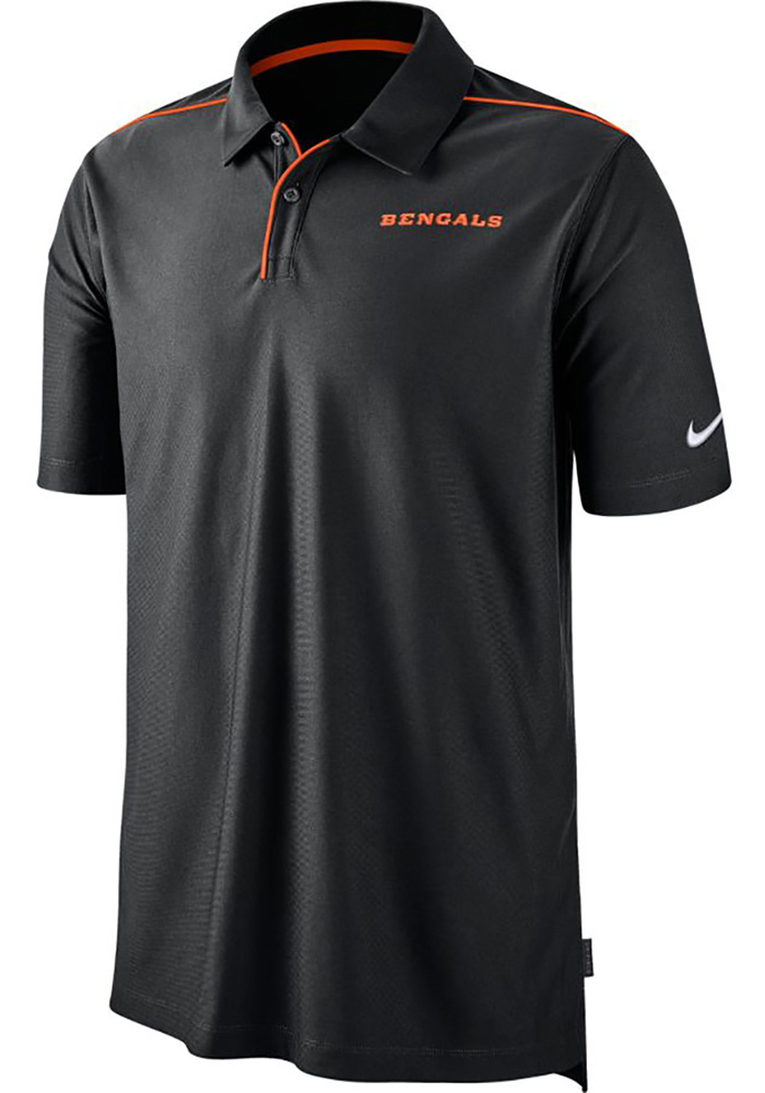 Nike Cincinnati Bengals Mens Black Team Issue UV Short Sleeve Polo - Image 1