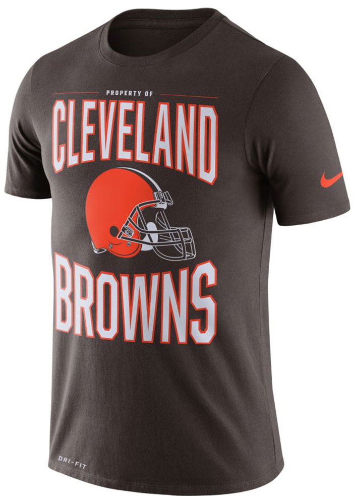 Nike Cleveland Browns Brown DFCT Prop Of Short Sleeve T Shirt - Image 1