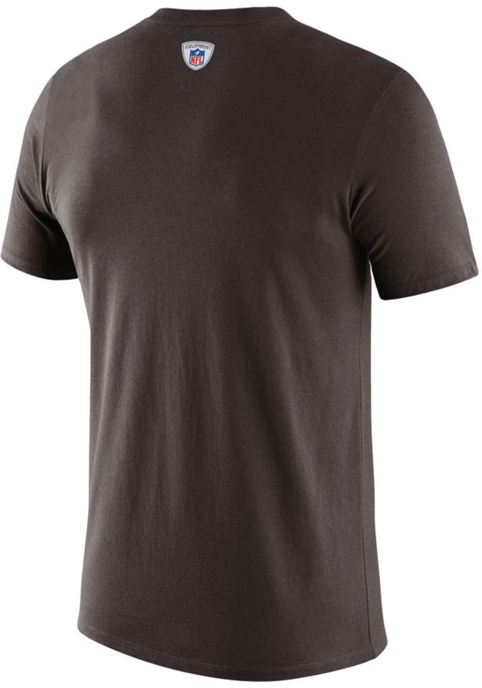 Nike Cleveland Browns Brown DFCT Prop Of Short Sleeve T Shirt - Image 2