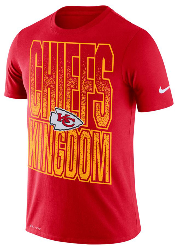Nike Kansas City Chiefs Red Local Verb Short Sleeve T Shirt - Image 1