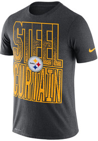 Pittsburgh Steelers Nike Local Verb T Shirt - Charcoal