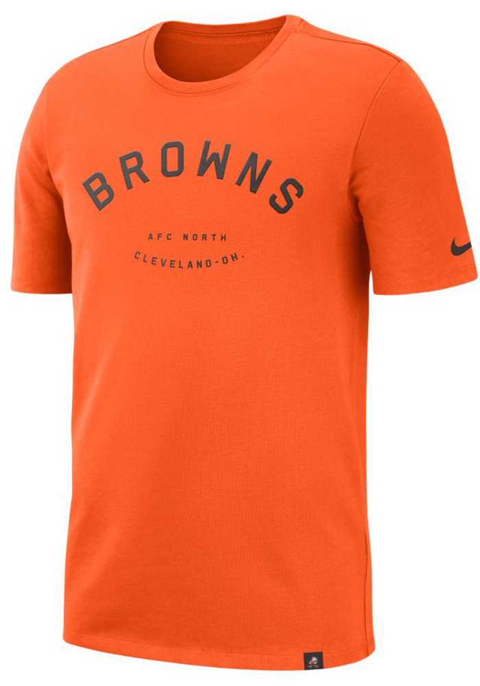 Nike Cleveland Browns Orange Heavyweight Arch Short Sleeve T Shirt - Image 1