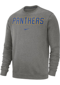 Pitt Panthers Nike Club Crew Sweatshirt - Grey