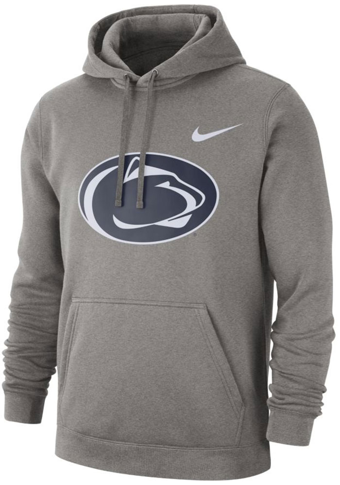 Nike Penn State Nittany Lions Mens Grey Club Long Sleeve Hoodie - Image 1