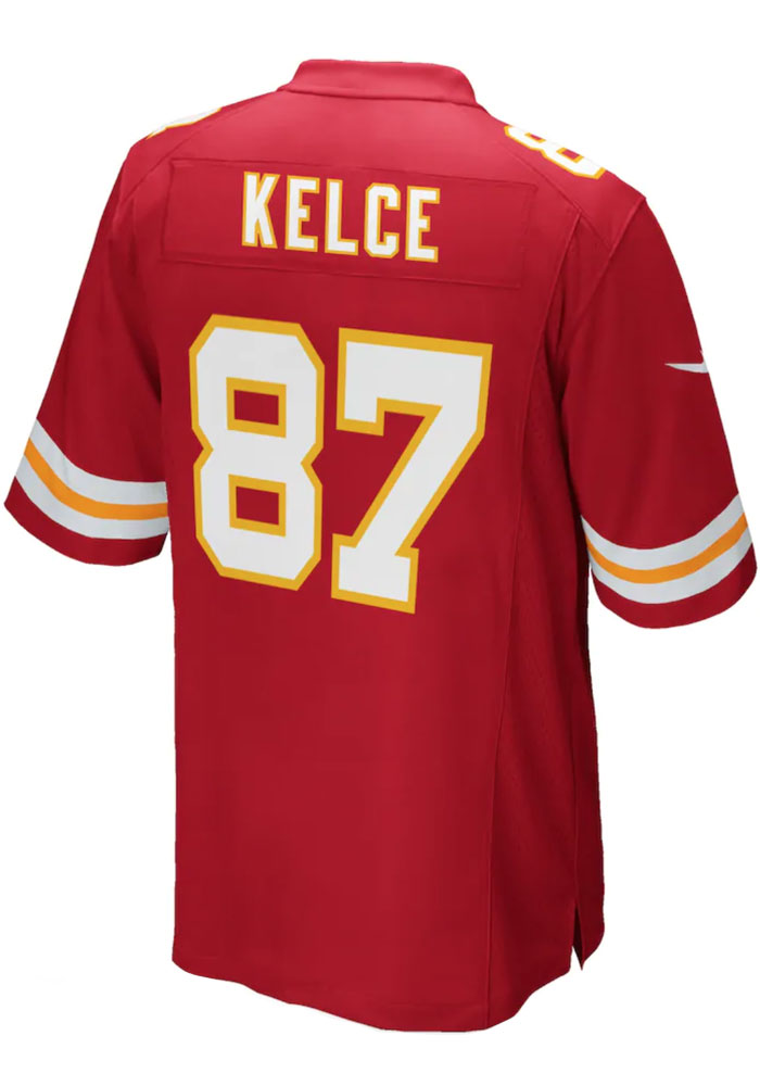 Travis Kelce Nike Kansas City Chiefs Mens Red 2017 Home Football Jersey - Image 1